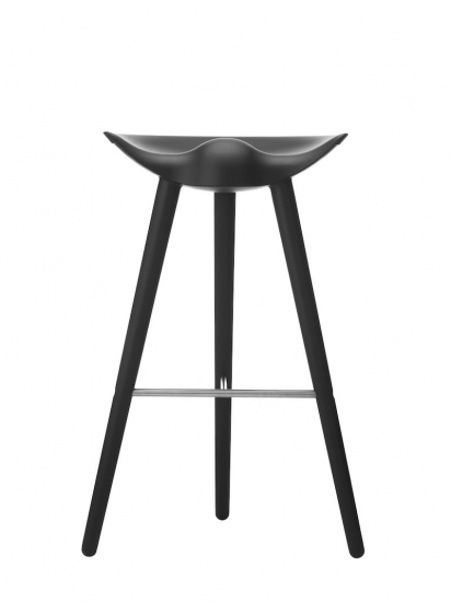 by Lassen - ML42 Barstol - Sort bøg/stål - Sort barstol med stål
