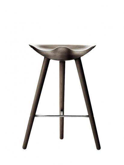 by Lassen - ML42 Counterstol - Olieret eg/stål - Brun counterstol med stål