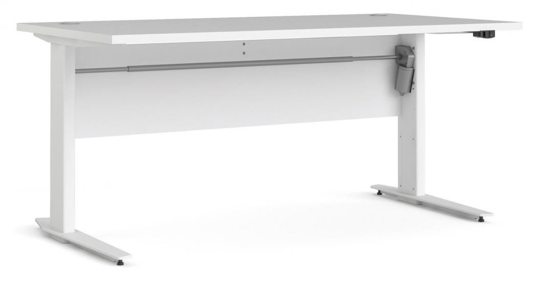 Prima Hæve/sænkebord - Hvid 150cm