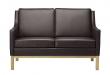 FDB Møbler - L601-2-pers. Sofa - Mørk brun læder