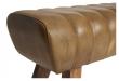 Fuhrhome Santos Bænk - Bøffel læder, Patina Brun
