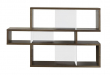 Temahome London Reol - Valnød/Hvid H:100