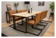 Art Spisebordsstol, Brun Kunstlæder
