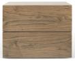 Aurora Sengebord - Valnød - Sengebord i valnøddefinér