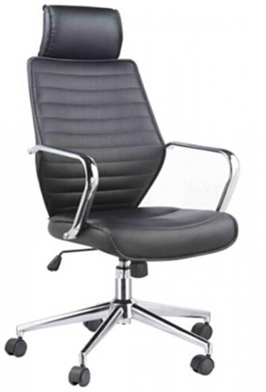 Click kontorstol - Skrivebordsstol i sort læderlook
