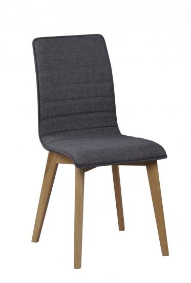 Grace Spisebordsstol - Grå stof m. mat ege ben