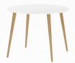 Delta Spisebord - Rundt spisebord i hvid med træben