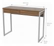 Function Plus Skrivebord - Mørk træ