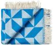 Twist a Twill Plaid, Blå   - Blå plaid i 100% merino uld