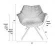 Doulton Spisebordsstol - Grå