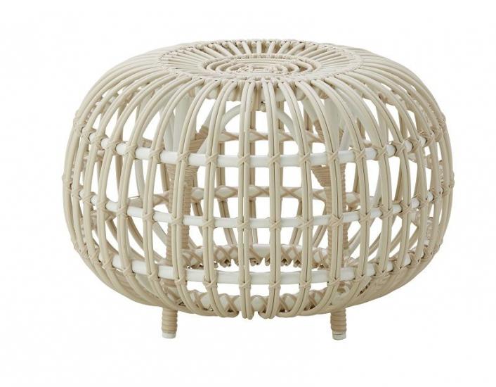 ICONS Ottoman - Dove White, Ø55 - Design - Franco Albini