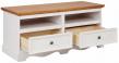 Mie TV-bord hvidpigmenteret/honning fyrretræ - 120