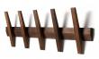 Hoigaard - Tangent 5 Knagerække - Valnød - vælg selv farve på knager