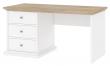 Paris Skrivebord - Hvid - Hvidt skrivebord med 3 skuffer