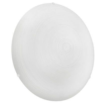 Malva Glas Loftlampe - Beige - Ø39,5 - Rund lampe med hvid glasskærm - Ø:39,5