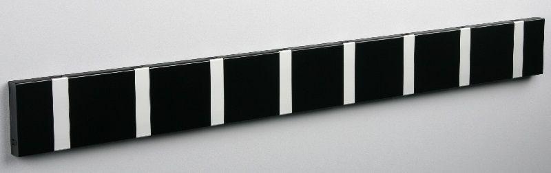 KNAX knagerække - Sort - 8 aluknager - Knagerække med 8 aluminiumsknager