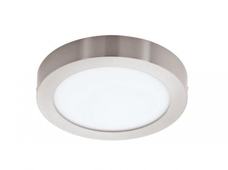 Fueva LED Loftlampe - Børstet stål - Ø30 - Rund loftlampe i børstet stål
