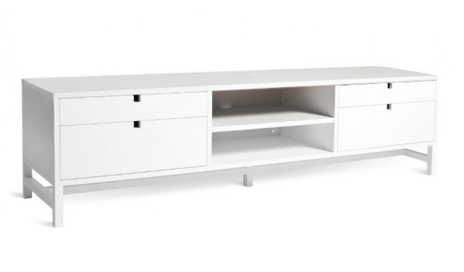 Mavis - Falsterbo Tv-bord m/4 skuffer - Hvid