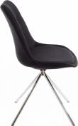 Dylan Spisebordsstol Gråt stof med krom ben