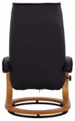 Paprika Hvilestol med skammel Sort PU