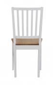 Gabriella Spisebordsstol - Hvid m. Egetræssæde