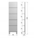 Leaning Reol m/5 hylder - Sort