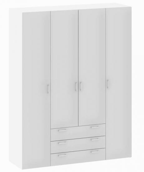 Space Garderobeskab - Garderobeskab i hvid med 4 låger