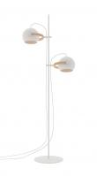 Halo Design D.C gulvlampe 2 arm Ø18 Hvid m/egetræ