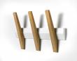 Hoigaard - Tangent 5 Knagerække, Hvid/eg