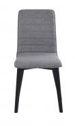 Trend Spisebordsstol - Lysegrå m. sorte ege ben