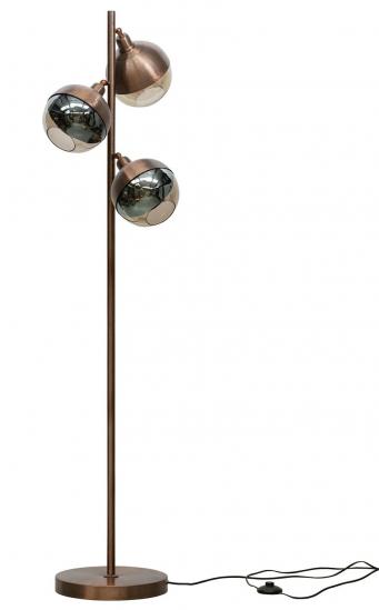 Split Gulvlampe - Børstet Brun Metal/Glas, H158