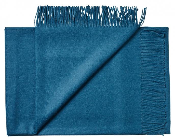 Lima Plaid - Blå Baby Alpaca - 200x130 - Silkeborg Uldspinderi