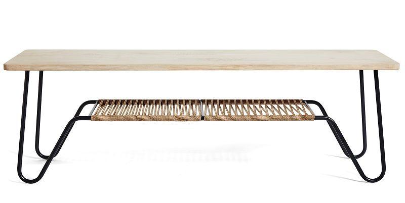 Mavis - Marcel Sofabord 160x50 - Lys sæbebehandlet eg