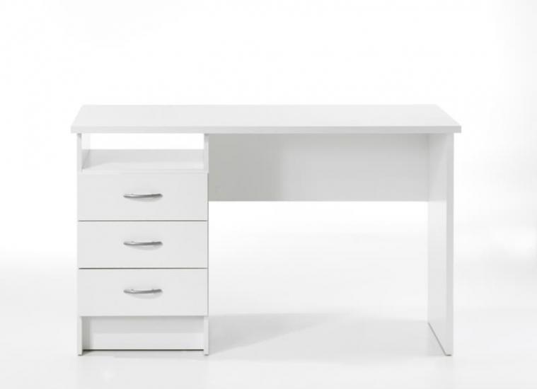 Function Skrivebord - Hvid m/3 skuffer - Skrivebord i hvid