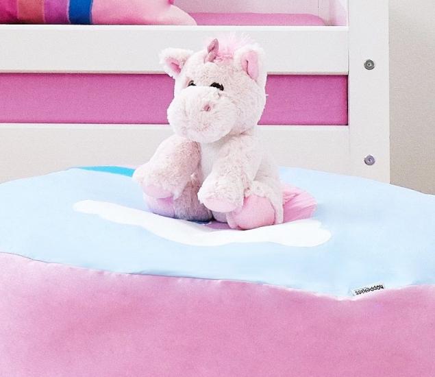 Hoppekids - Unicorn Enhjørning Bamse - Lyserød - Blød enhjørninge bamse