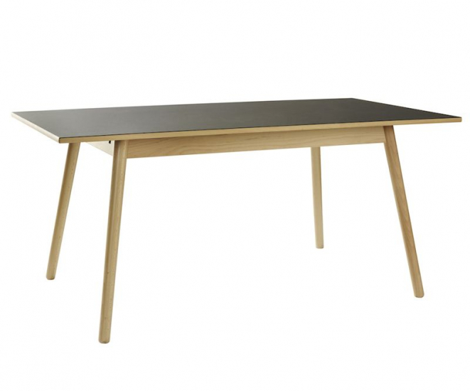 FDB Møbler - C35B Spisebord 160x82 - Bøg/Sort