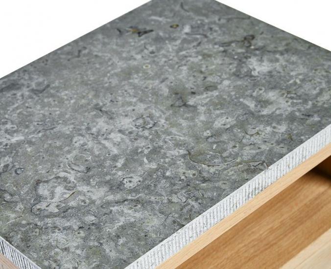 Mavis Höllviken Limestonetop - Grå - Limestonetop til vitrineskab