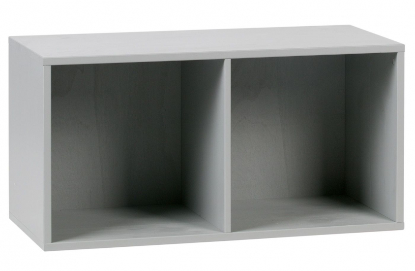 Lower Modulreol m/2 åbne rum - Grå