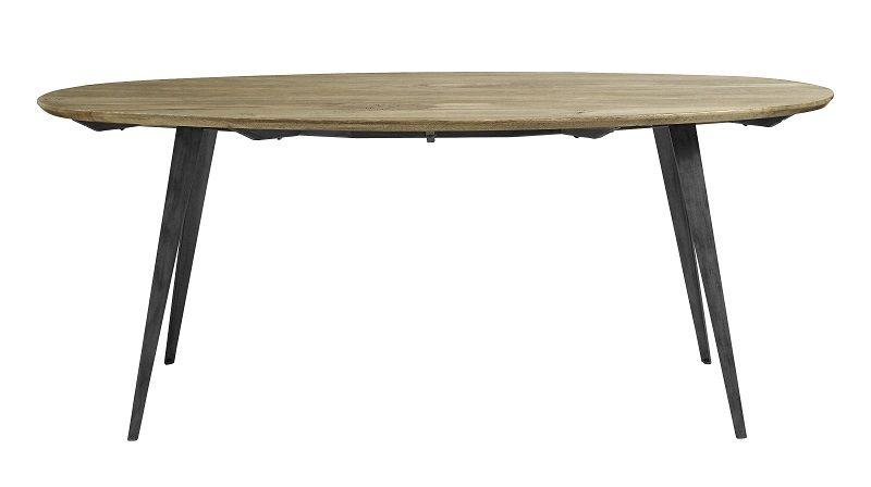 Nordal Spisebord - Lys træ - Oval - Ovalt spisebord i lyst træ