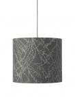Ebb&Flow - Lampeskærm, branches, grå/Sølv, Ø35
