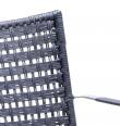 Cane-line - Straw Spisebordsstol m/arm - Sort