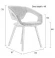 Zuiver - Flex Back Spisebordsstol - Lys Grå