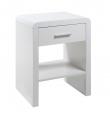 Rago Natbord m/skuffe - Hvid højglans - Hvidt natbord med skuffe