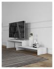 Cliff TV-bord - Mat hvid