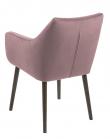 Amada Spisebordsstol m/armlæn - Støvet rosa