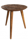 Dutchbone - By Hand L Sidebord - Mørktræ - Sidebord i sesam tre - 40x45