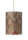 Ebb&Flow - Lampeskærm, brocade, grøn/Guld, Ø30, loftlampe