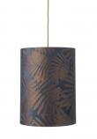 Ebb&Flow - Lampeskærm, fern leaves wild, blue, Ø30