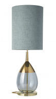Ebb&Flow - Lute lampefod, topaz blue/Guld, Guld base