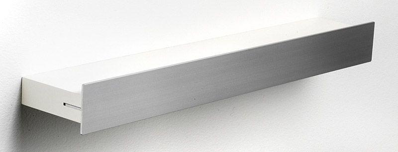Hoigaard Design Gallerihylde - Hvid - SR-38 med aluminiumskant - smal